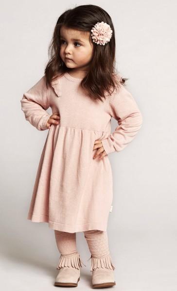 Creamie Mädchen Strickkleid rosa mit kleinen Rüschen