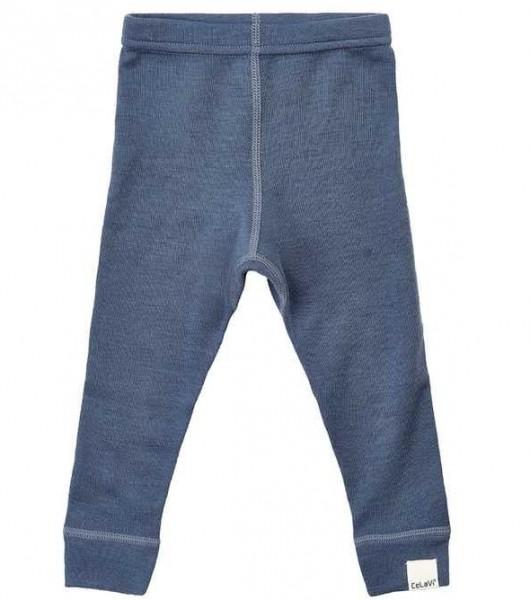 Celavi Baby Leggings jeansblau Wolle Unterhose