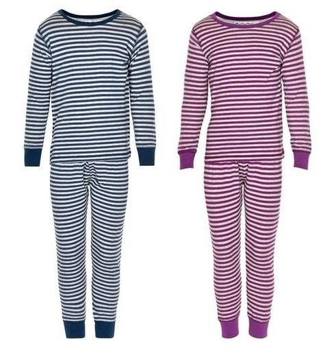 Minymo Kinder Schlafanzug Ringelstreifen Pyjama