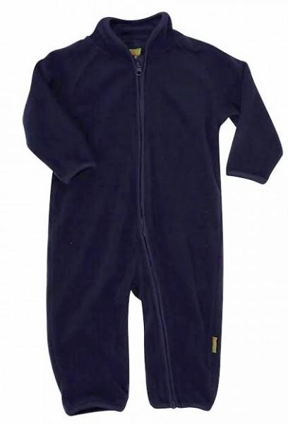 Celavi Baby Fleece-Overall dunkelblau
