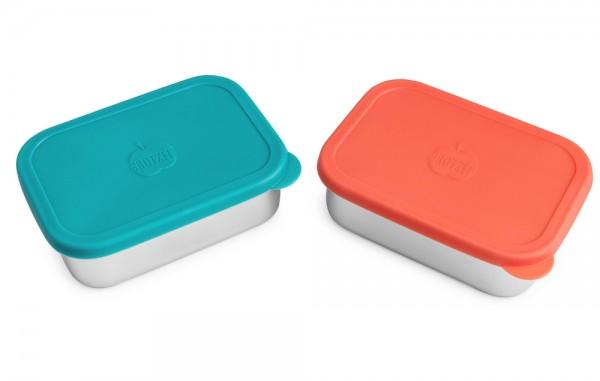 Brotzeit Edelstahl Brotdose EINERLEI mit Silikondeckel auslaufsicher Lunchbox