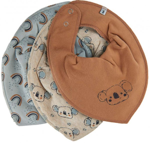 Pippi Baby Halstücher Koala + Regenbogen 3er Pack