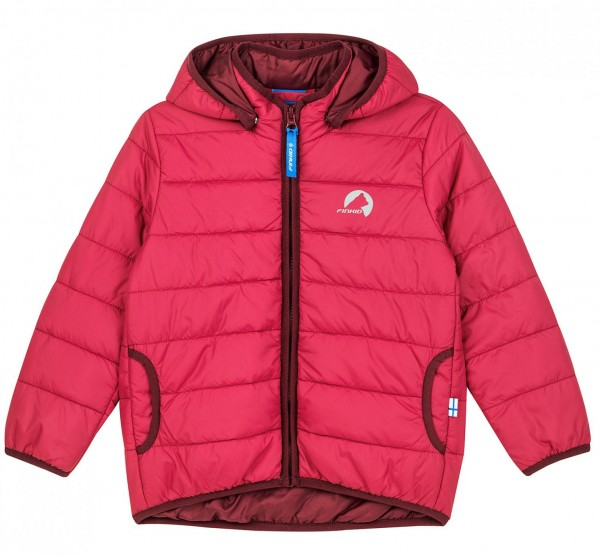 Finkid VANUKAS persian red/cabernet Thermo Zip-in Steppjacke vegan