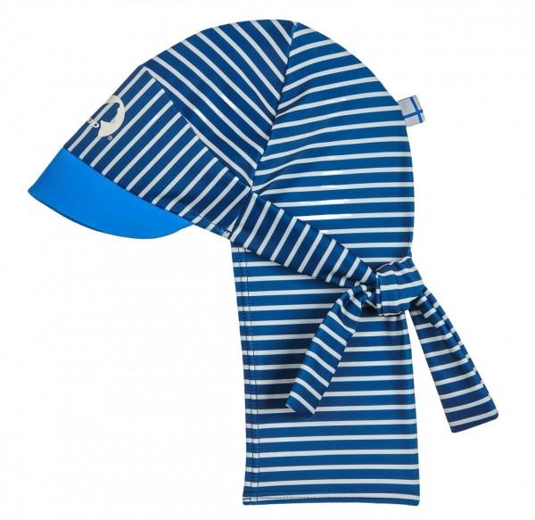 Finkid FAKIIRI BEACH Badehut denim/offwhite mit Nacken und UV Schutz