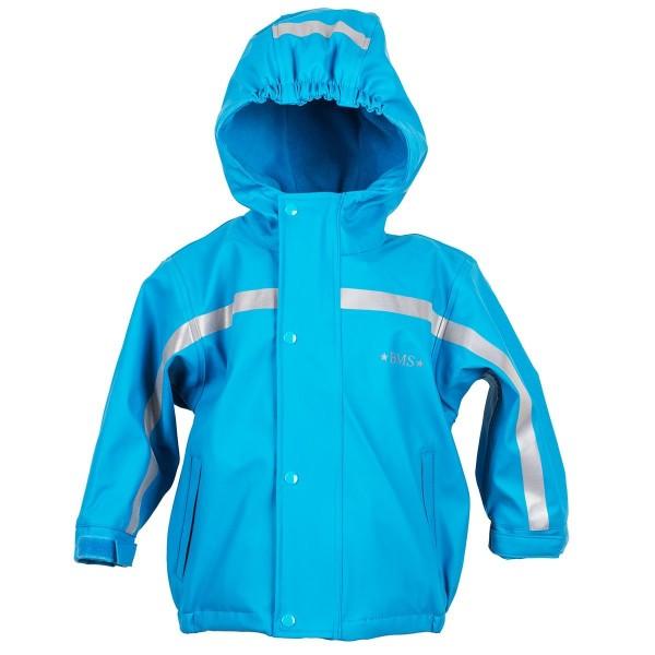 BMS Thermo Regenjacke hellblau mit Zip-In Fleecejacke 2in1