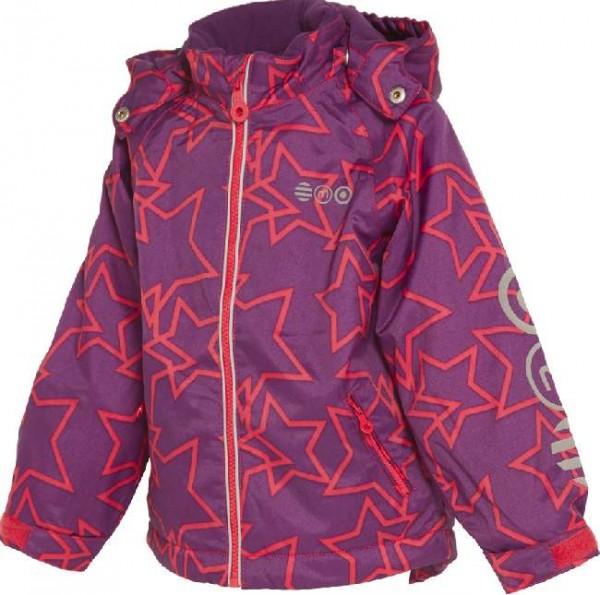 MINYMO Bing15 purple/pink Sterne Winterjacke Outdoorjacke atmungsaktiv