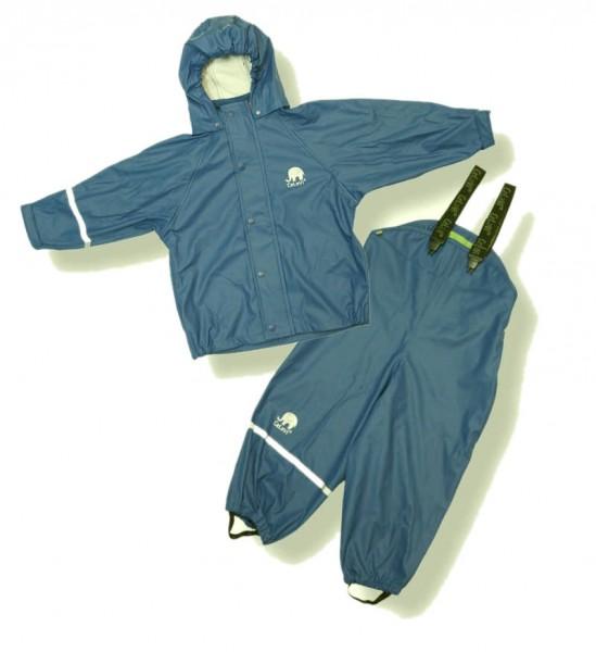 CeLaVi Regenanzug petrol jeansblau Regenhose + Regenjacke