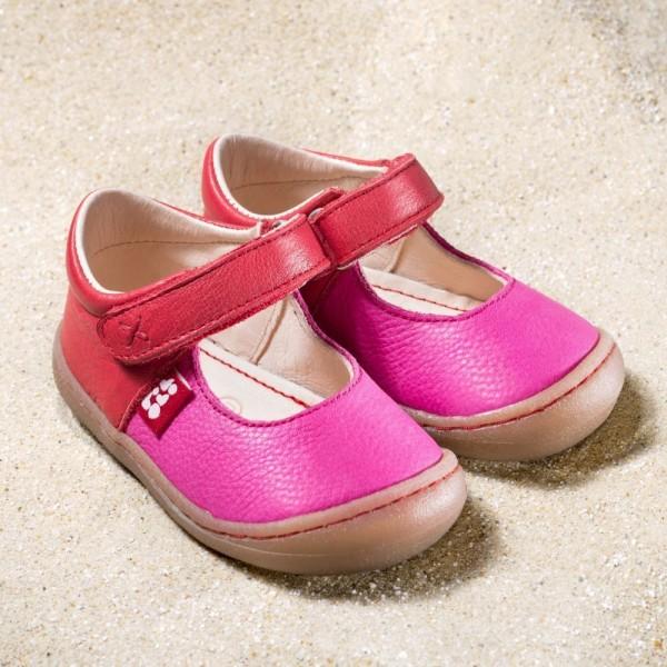 Pololo Luna berry pink Mädchen Lauflernsandalen extra weich