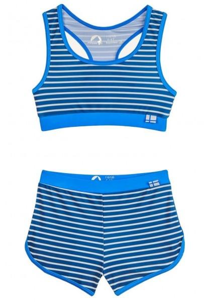 Finkid Luoto Bikini Set denim/offwhite mit UV Schutz