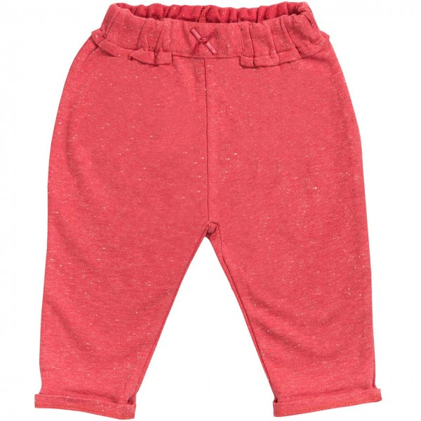 Baby Jogginghose hellrot melange Bio-Baumwolle