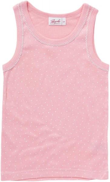 Mädchen Unterhemd rosa Pünktchen Bio-Baumwolle