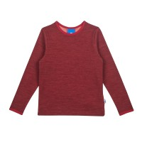 Finkid TAAMO WOOL cabernet/persian red Langarmshirt mit Wolle