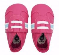 Bobux Classic Sport pink Leder Krabbelschuhe