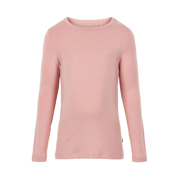 Minymo Mädchen Langarmshirt rosa Viskose aus Bambus