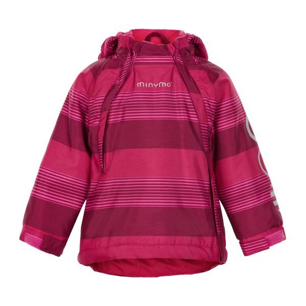 Minymo Winterjacke Le93 Doppelzipper vivacious pink gestreift