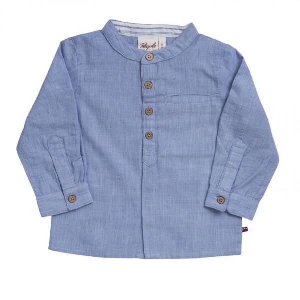 People wear Organic Kinder Hemd jeansblau Bio Baumwolle (GOTS)