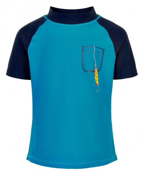 Color Kids EJNAR UV Schutz Shirt petrol Fisch