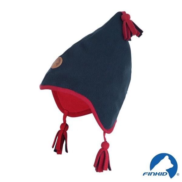 Finkid Pipo navy / red Winter Fleecemütze mit Baumwollfutter