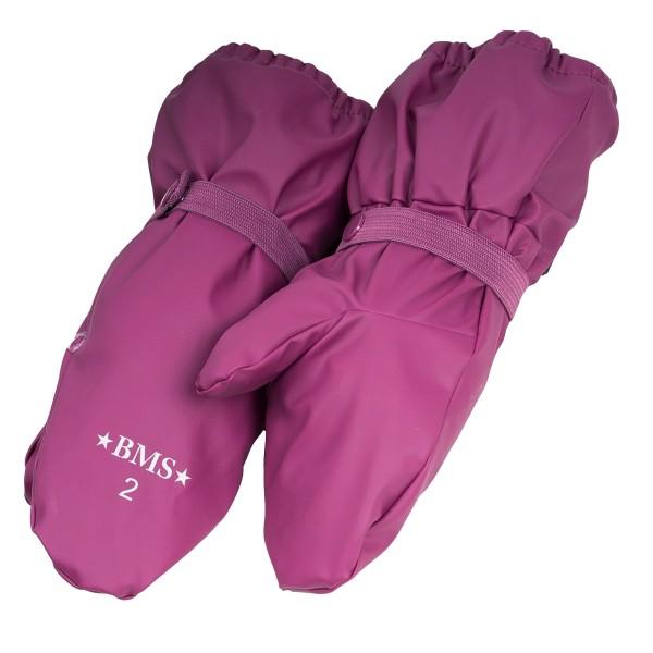 BMS Mädchen Buddelhandschuhe mit Fleecefutter purple