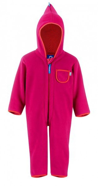 Finkid Puku Fleeceoverall raspberry/fox