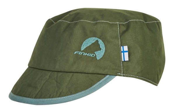 Finkid MIKKE bronze green / trellis Sommer Cap mit UV Schutz