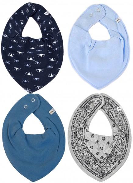 Baby Halstücher Blue Day 4er Pack
