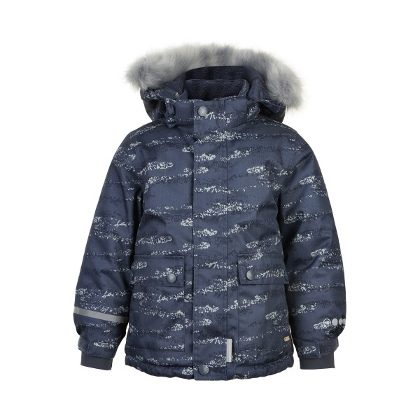 MINYMO Winterjacke ombre blue Herringbone Outdoorjacke atmungsaktiv