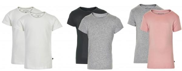 Minymo 2er Pack Mädchen T-shirts Kurzarm