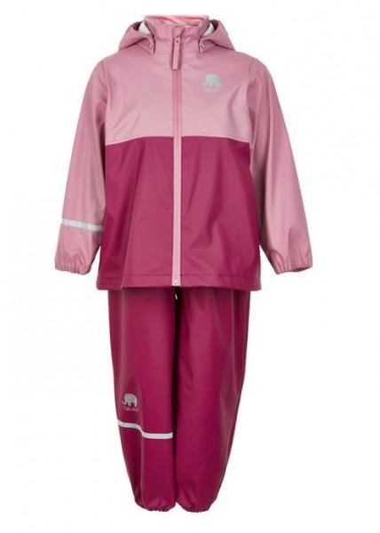 CeLaVi Mädchen Regenanzug dry rose/berry Set Regenhose + Regenjacke
