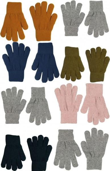 Celavi Kinder Handschuhe Wolle 2 Paar im Set Fingerhandschuhe