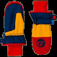 Finkid KIRJAVA Thermo Handschuhe Fäustlinge navy/red