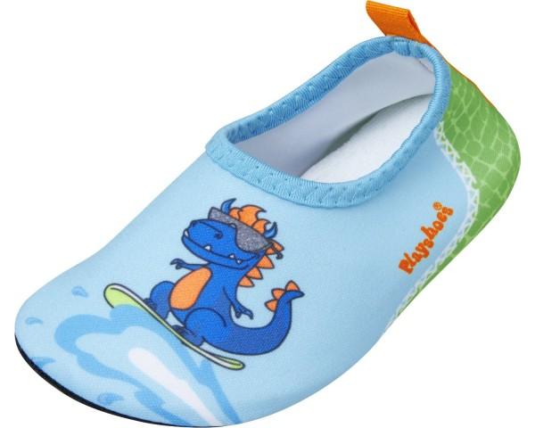 Kinder Strandschuhe Dino hellblau Barfuß-Schuhe
