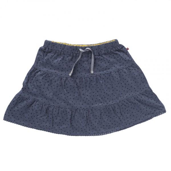 Mädchen Sommerrock grau Slub Jersey Bio-Baumwolle