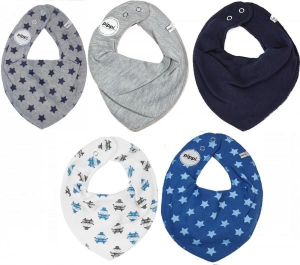 Pippi Babywear Halstücher Autos + Sterne 5er Pack