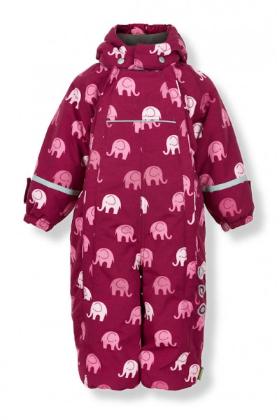 Celavi Schneeanzug Skianzug Elephants beet red / rose