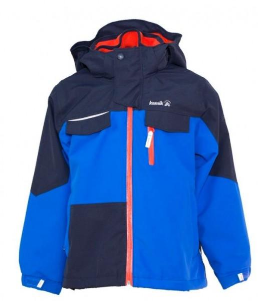 KAMIK Regenjacke Zip-In System Outdoorjacke TRTO Skydiver blue / türkis / orange