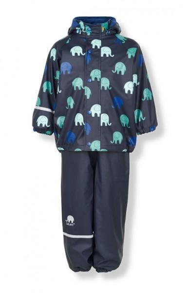 CeLaVi Thermo Regenanzug Elefanten blue/navy mit Fleecefutter 2 Teile