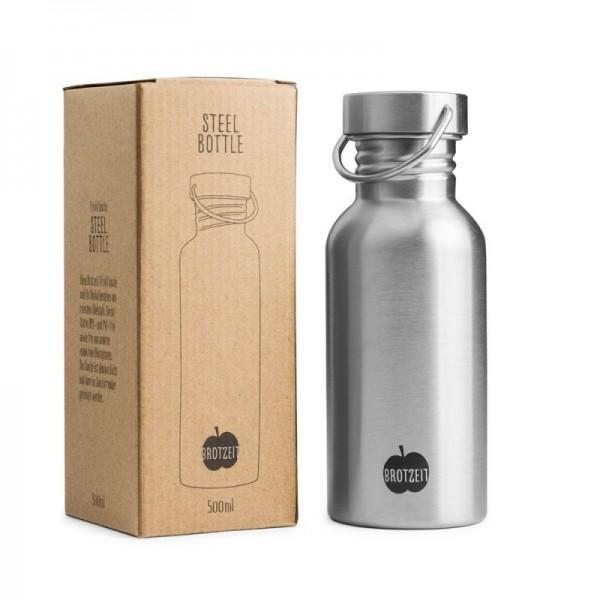 Brotzeit Trinkflasche Edelstahl 0,5L