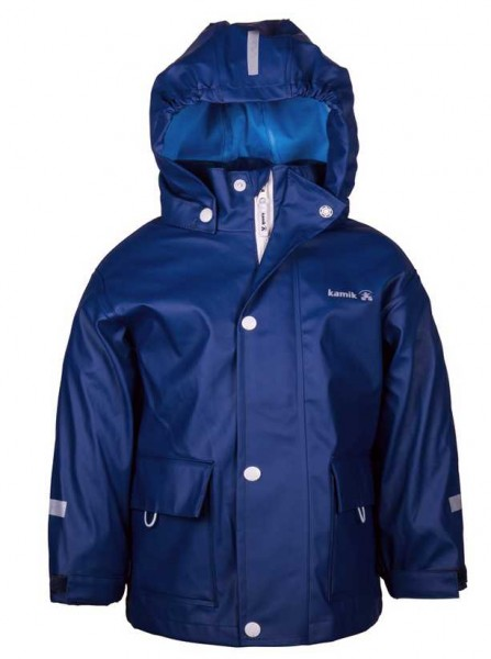 Kamik Kinder Regenjacke Splash blue depth mit Textilfutter