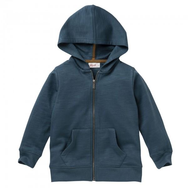 People wear Organic Sweat Jacke Hoodie petrol