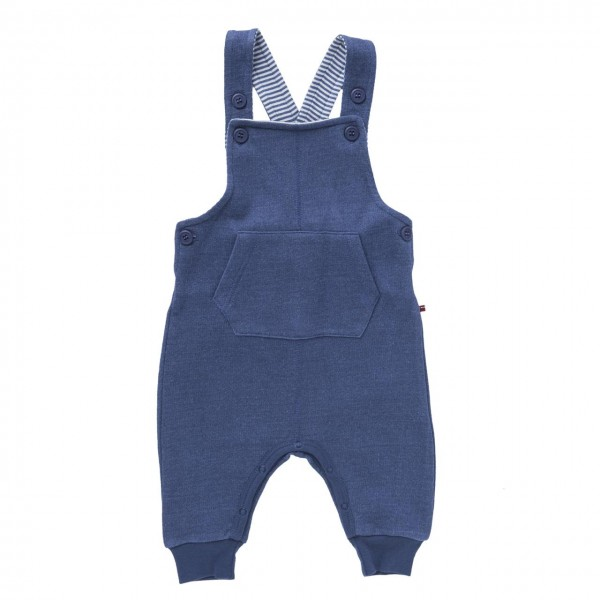 Baby Latzhose Sweat jeansblau melange Bio-Baumwolle
