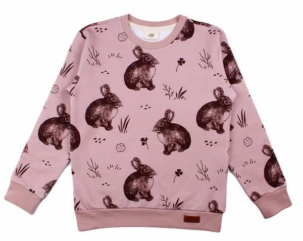 Walkiddy Mädchen Sweatshirt cute Rabbits rosa