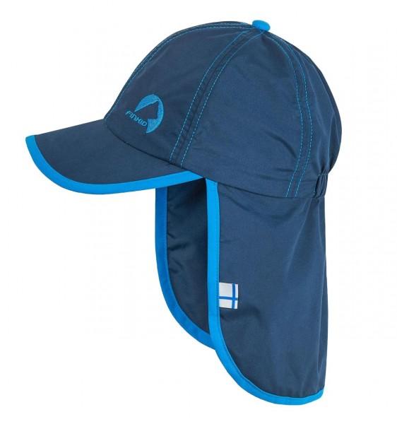 Finkid LAKKI Cap navy/blue Kinder Sonnenmütze mit Nackenschutz