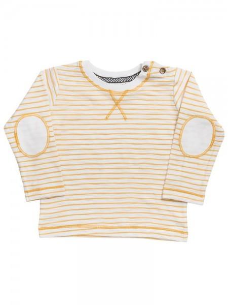 People wear Organic Baby Langarmshirt gelb gestreift Biobaumwolle