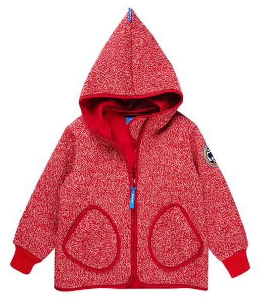 Finkid Tonttu Wind pepper melange/red Strick Softshelljacke