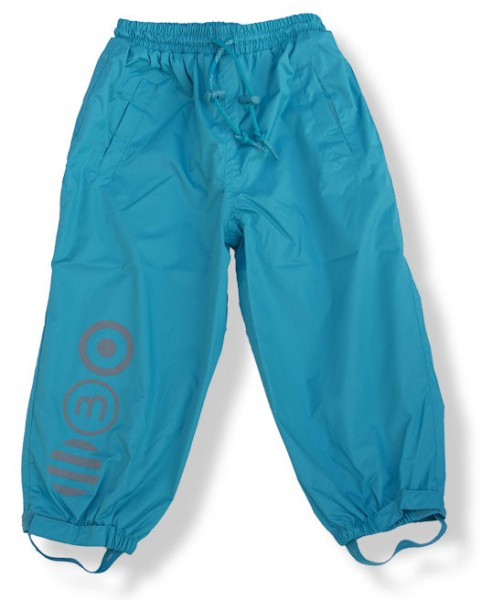 Minymo Kinder Regenhose türkisblau ohne Träger