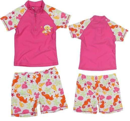 UV Schutz Anzug für Mädchen Bade-Set Meerjungfrau pink