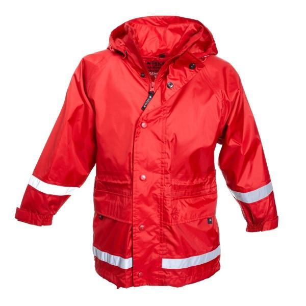 BMS atmungsaktive Kinder Regenjacke rot