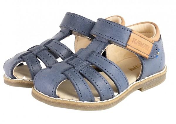 Kavat FORSVIK jeansblau Kinder Sandalen aus Ökoleder