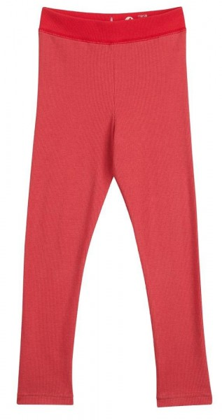 Finkid LEIKKI cranberry/red Kinder Feinripp Leggings